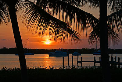 Photograph - Florida Keys Harbor Sunset by Ginger Wakem