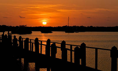 Photograph - Florida Bay Sunset by Ginger Wakem
