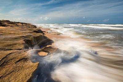 Waves Photograph - Florida Beach St Augustine Washington Oaks State Park by Dave Allen