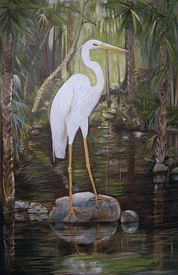 Painting - Florida Bird by Arlen Avernian Thorensen