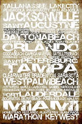 Florida Cities No.3 Art Print