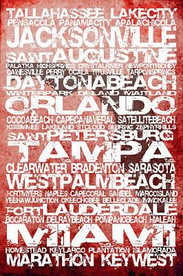 Florida Cities No.5 Art Print
