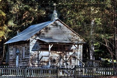 Photograph - Florida Cracker Church  by Debra Forand