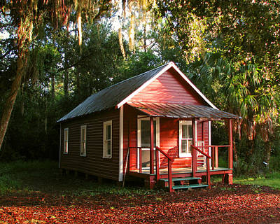 Photograph - Florida Cracker House by Peg Urban