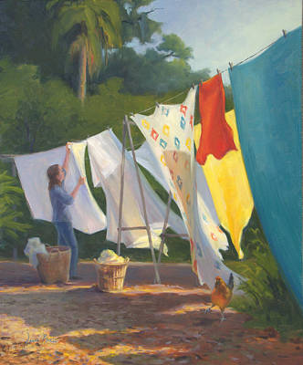 Laundry Painting - Florida Dry by Laura Bates