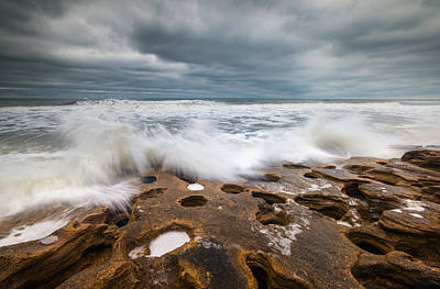 Zen Photograph - Florida East Coast Beach St. Augustine Fl Landscape by Dave Allen