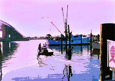 Florida Fishing Dock Art Print