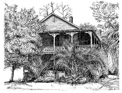 Drawing - Florida House by Arthur Fix