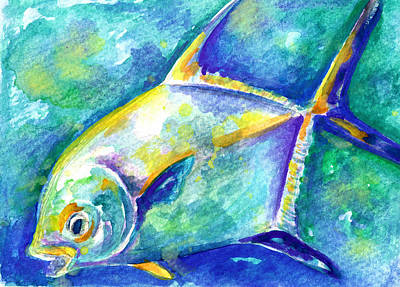 Painting - Florida Keys Permit by Ashley Kujan