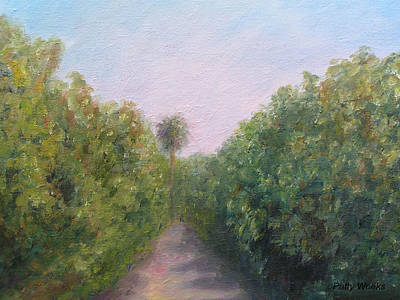 Flora And Fauna Painting - Florida Orange Grove by Patty Weeks