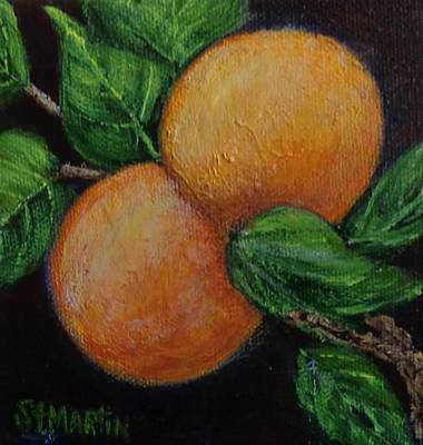Painting - Florida Oranges by Annie St Martin