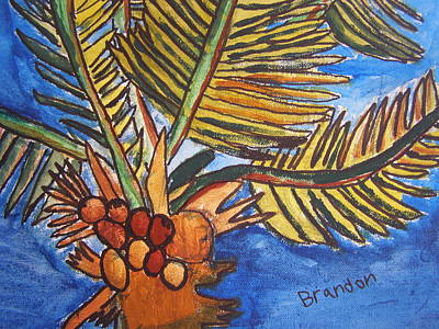 Florida Palm Art Print by Artists With Autism Inc