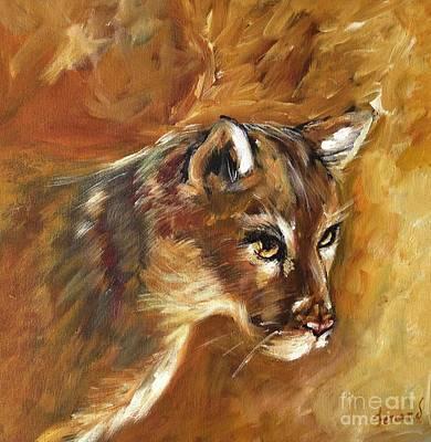 Florida Panther Art Print by Karen  Ferrand Carroll