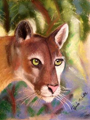 Pastel - Florida Panther by Renee Michelle Wenker
