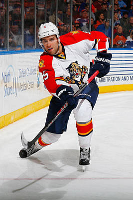 Photograph - Florida Panthers V New York Islanders by Mike Stobe