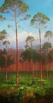 Painting - Florida Pines by Keith Gunderson
