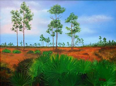Painting - Florida Pines by Maria Mills