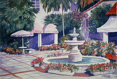 Painting - Florida Plaza by Audrey Peaty