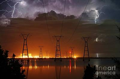 Photograph - Florida Power And Lightning by Lynda Dawson-Youngclaus