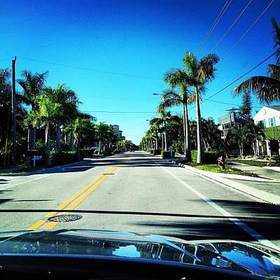 Florida Drive Art Print