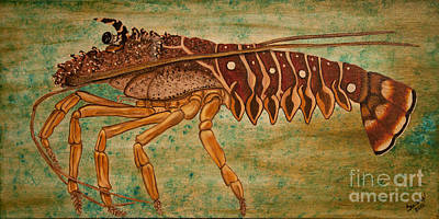 Florida Spiny Lobster Art Print by Susan Cliett
