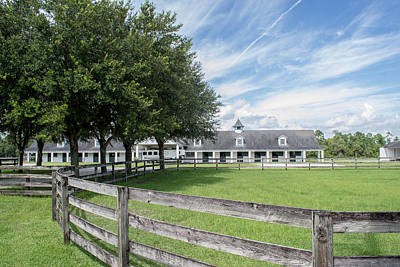 Photograph - Florida Stables by Shannon Harrington