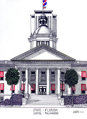 Drawing - Florida State Capitol by Frederic Kohli