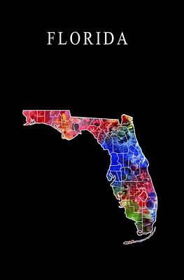 Florida State Art Print by Daniel Hagerman