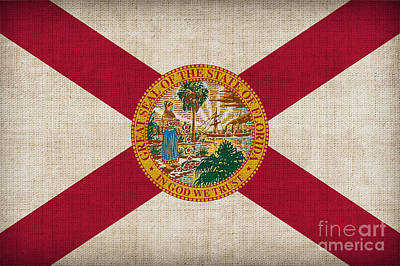 Florida State Painting - Florida State Flag by Pixel Chimp