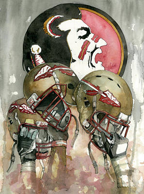 Ncaa Mixed Media - Florida State Seminoles by Michael  Pattison