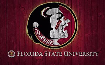 Fan Mixed Media - Florida State University Barn Door by Dan Sproul