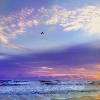 Florida Sunrise - New Smyrna Beach Print by Joann Vitali