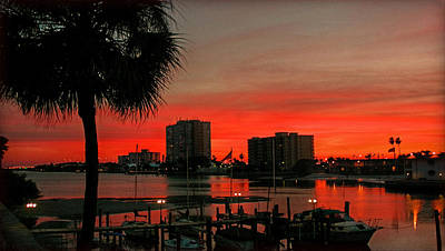 Print featuring the photograph Florida Sunset by Hanny Heim