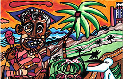 Florida Vacation Art Print