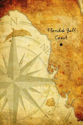 Florida's Gulf Coast Art Print by Beverly Stapleton