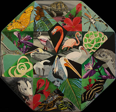 Painting - Floridian Flora And Fauna by Amanda  Lynne