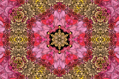 Kaleidoscope Digital Art - Florissimo Mandakal S01-01b by Variance Collections