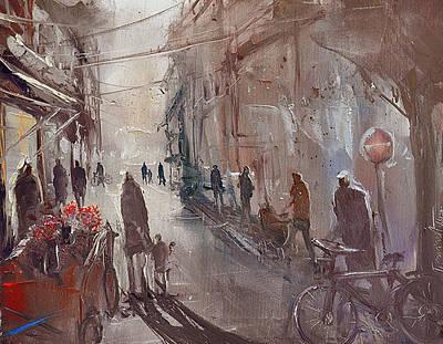 Painting - Florist by David Figielek