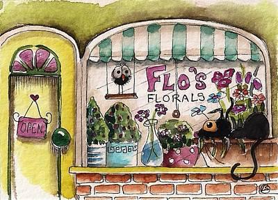 Flo's Flowers Art Print by Lucia Stewart