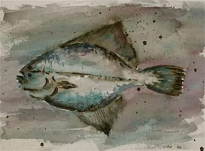 Flounder Painting - Flounder by Carolyn Doe