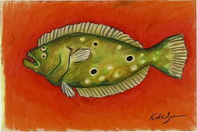 Pastel - Flounder by Katie Sasser