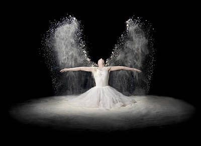 Angel Photograph - Flour Wings by Pauline Pentony Ba