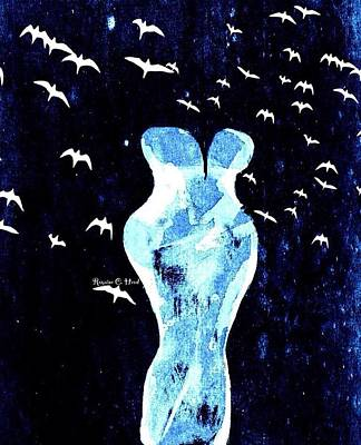 Flourescentflygirl Art Print by Romaine Head
