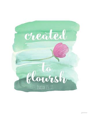 Flourish Art Print by Jo Moulton