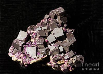 Inorganic Solid Photograph - Flourite by Millard H. Sharp