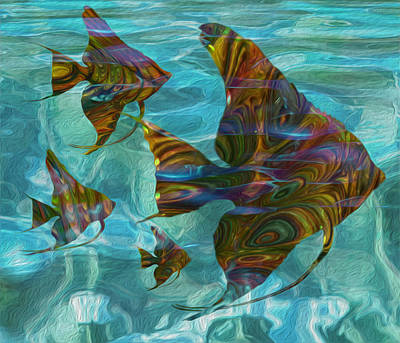 Angelfish Wall Art - Painting - Flow 15 by Jack Zulli