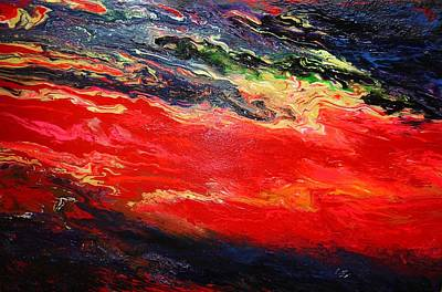 Art Print featuring the painting Flow #1.abstract by Viktor Lazarev
