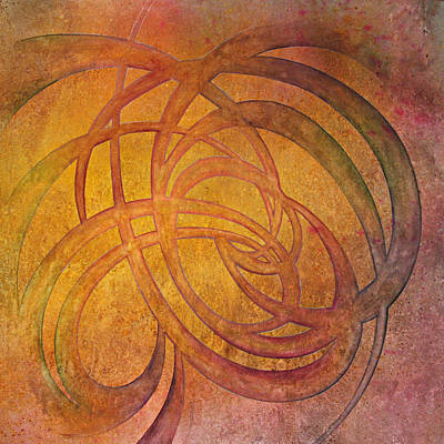 Recovery Art Painting - Flow #4 by Ellen Starr