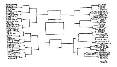 Final Four Drawing - Flow Chart by Ariel Molvig