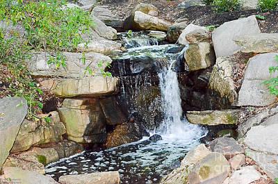 Wall Art - Photograph - Serenity Water Fall by Serbennia Davis